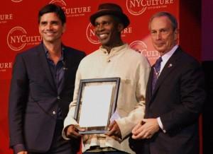 John Stamos, Vernon Reid and New York City Mayor Michael Bloomberg