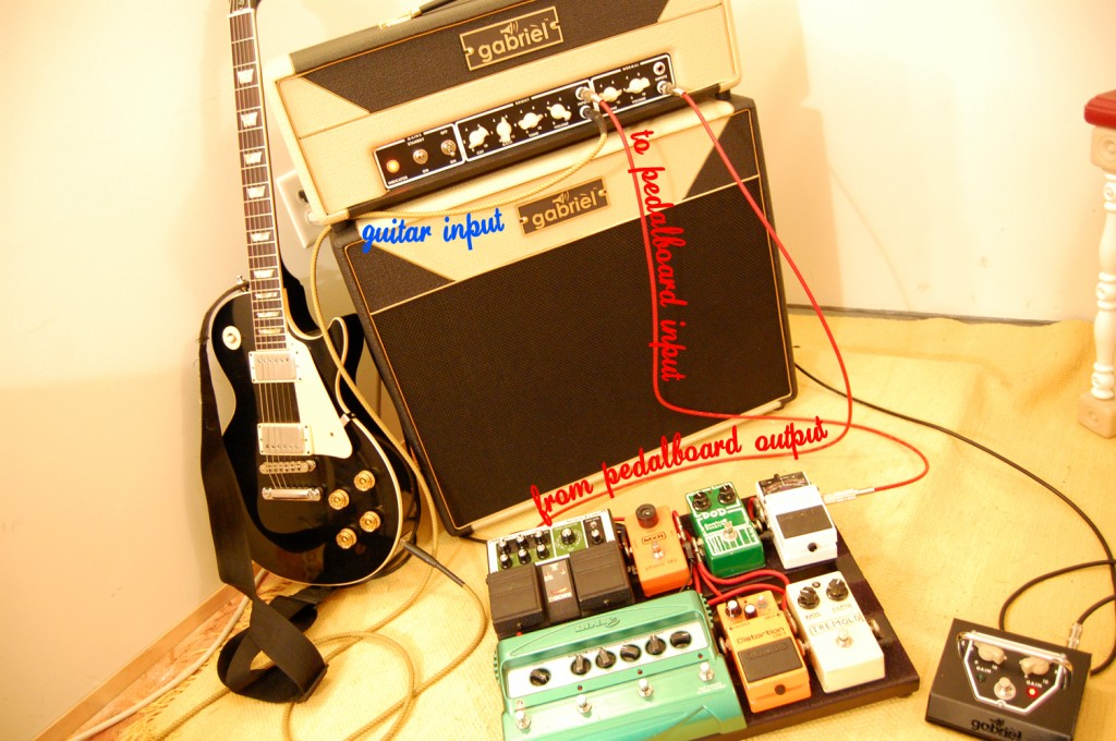 Guitar pedal board routing