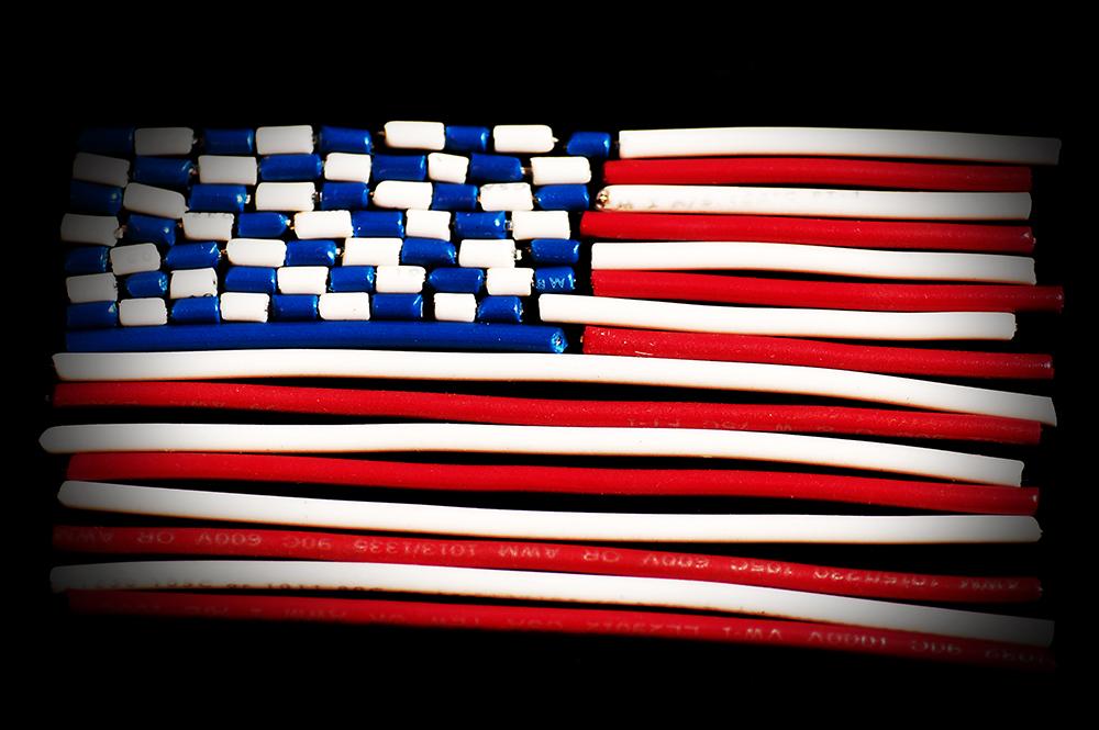 20 AWG wire USA Flag